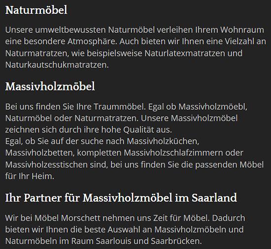 Möbelhaus für 66701 Beckingen - Kansaser Hof, Honzrath, Hellwies, Condelermühle, Walbersack, Saarfels oder Reimsbach, Oppen, Kollesborn