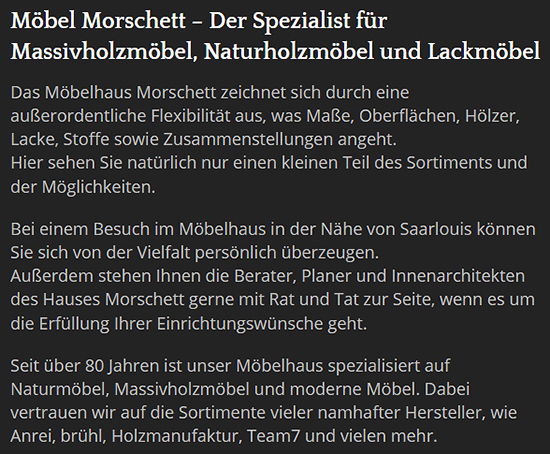 Möbel Morschett in  Wallerfangen